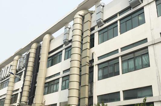 英杰电子科技有限公司镀锌螺旋风管废气处理工程案例